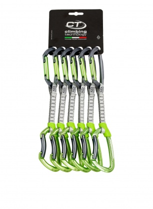Zestaw Climbing Technology Lime Set Dyneema 12cm x6 - anodized