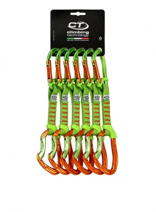 Zestaw Climbing Technology Nimble Fixbar Set NY 12cm x6 - orange/green
