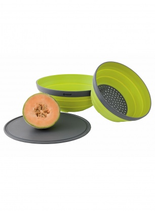 Zestaw Outwell Collaps Bowl & Colander Set - lime green