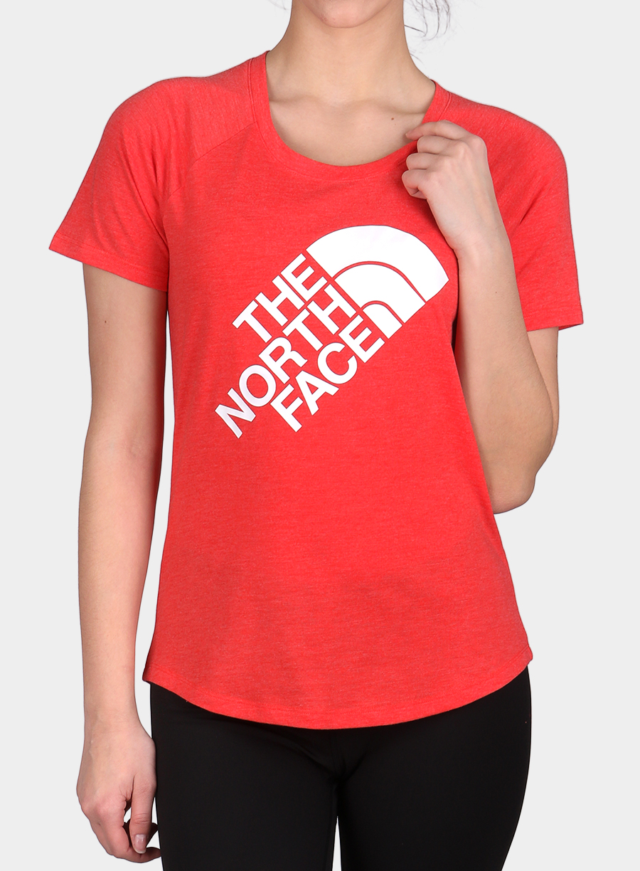 Damski T-shirt The North Face Graphic Play Hard S/S - juicy red/white - zdjęcie nr. 3