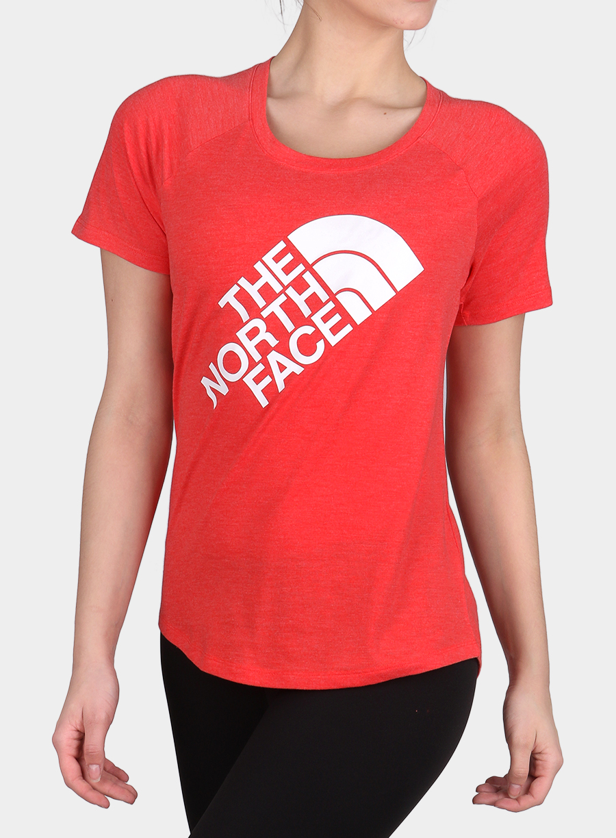 Damski T-shirt The North Face Graphic Play Hard S/S - juicy red/white - zdjęcie nr. 1