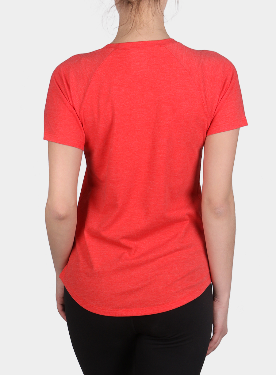 Damski T-shirt The North Face Graphic Play Hard S/S - juicy red/white - zdjęcie nr. 2