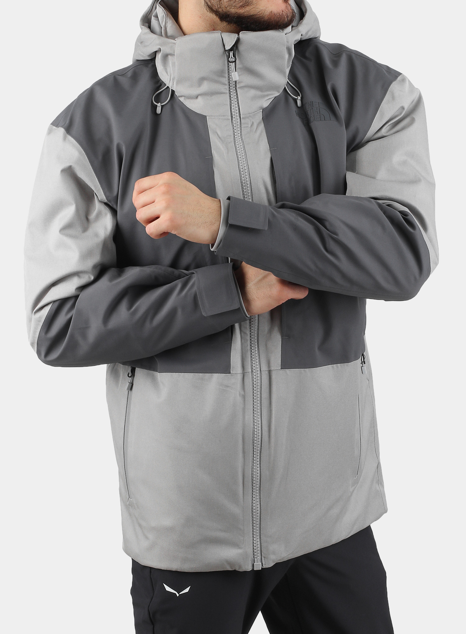 Kurtka The North Face Chakal Jacket - meld grey/vanadis grey - zdjęcie nr. 4