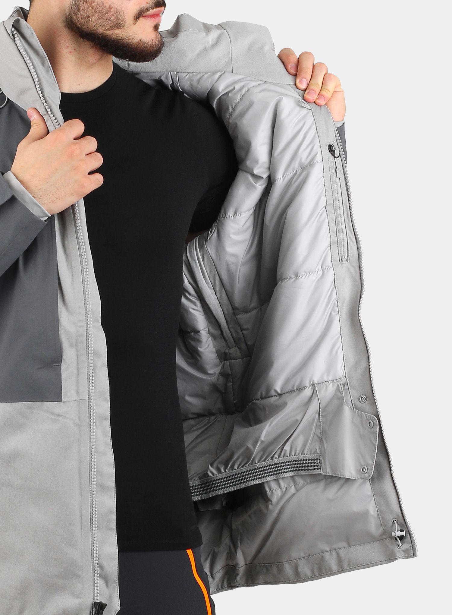 Kurtka The North Face Chakal Jacket - meld grey/vanadis grey - zdjęcie nr. 9