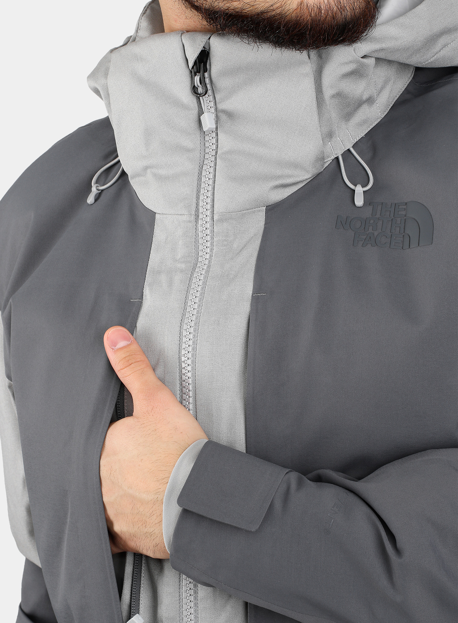 Kurtka The North Face Chakal Jacket - meld grey/vanadis grey - zdjęcie nr. 12