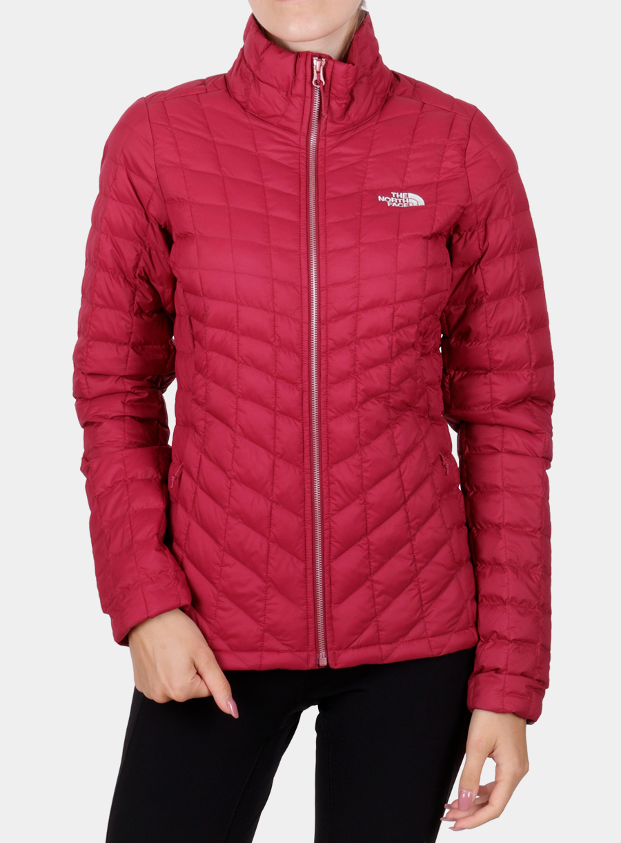 Kurtka The North Face damska Thermoball Full Zip Jacket - red - zdjęcie nr. 1