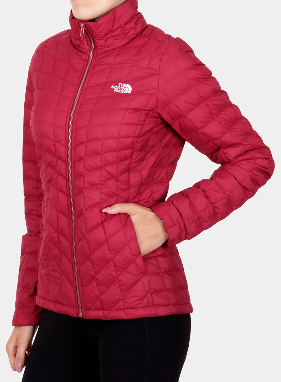 Kurtka The North Face damska Thermoball Full Zip Jacket - red - zdjęcie nr. 3