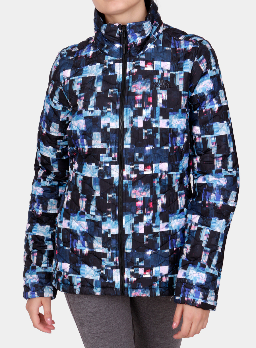 Kurtka The North Face damska Thermoball Jacket - multi glitch print - zdjęcie nr. 3