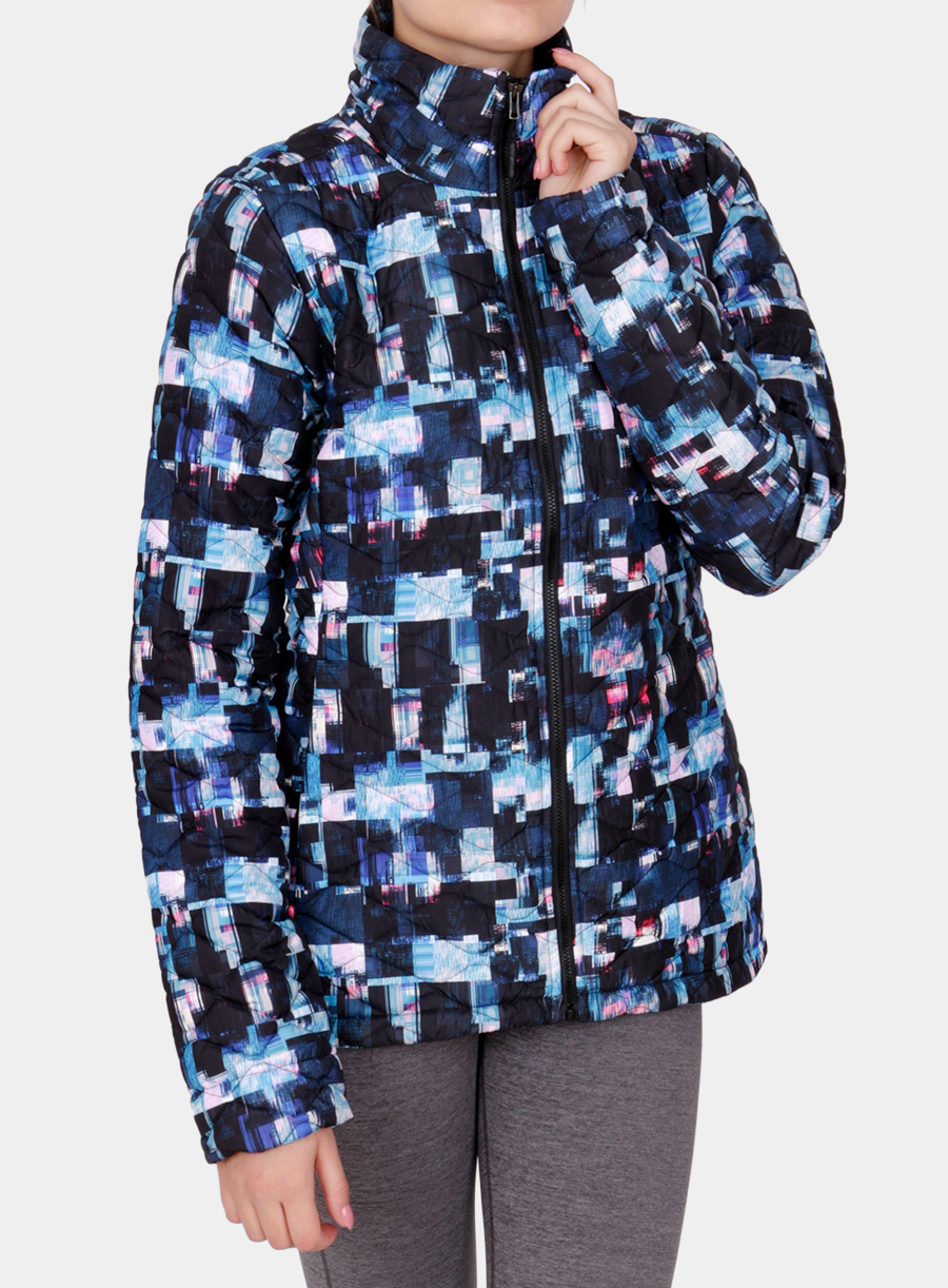 Kurtka The North Face damska Thermoball Jacket - multi glitch print - zdjęcie nr. 1