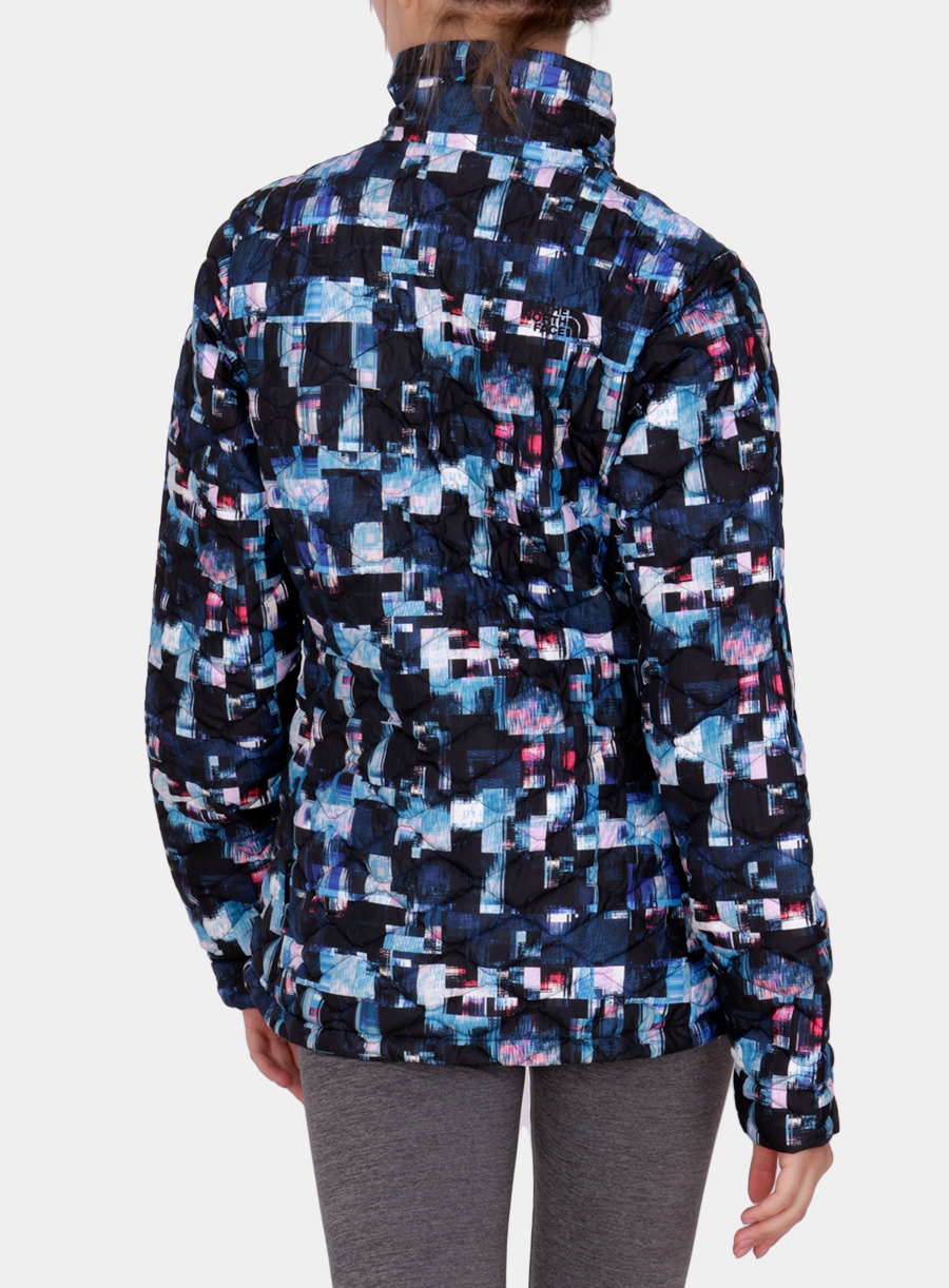 Kurtka The North Face damska Thermoball Jacket - multi glitch print - zdjęcie nr. 2