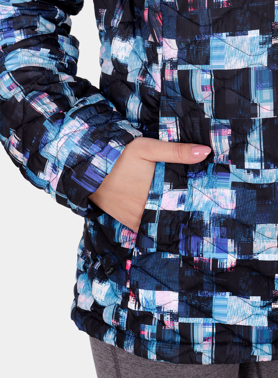 Kurtka The North Face damska Thermoball Jacket - multi glitch print - zdjęcie nr. 8