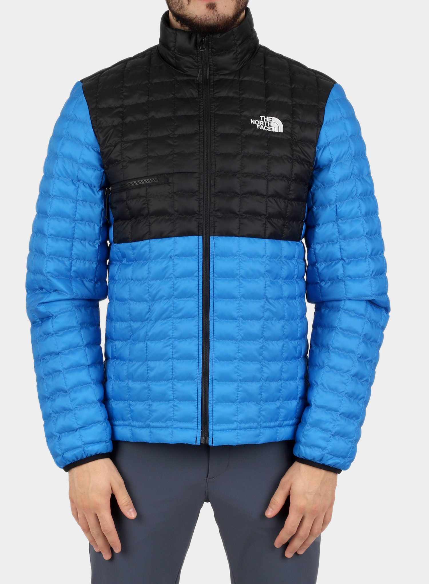 Kurtka The North Face ThermoBall Eco Active Jacket - l.blue/blk - zdjęcie nr. 1