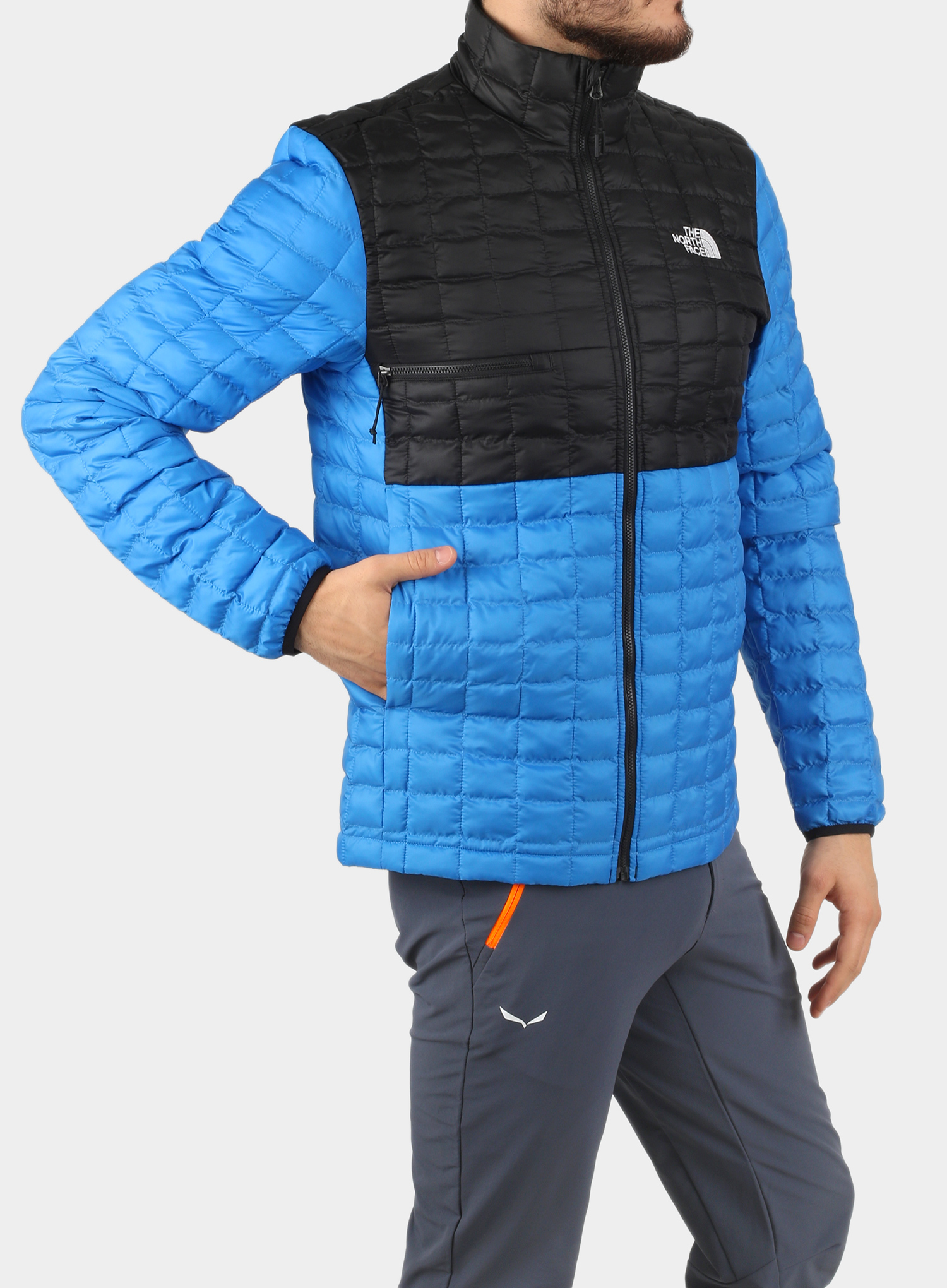 Kurtka The North Face ThermoBall Eco Active Jacket - l.blue/blk - zdjęcie nr. 3