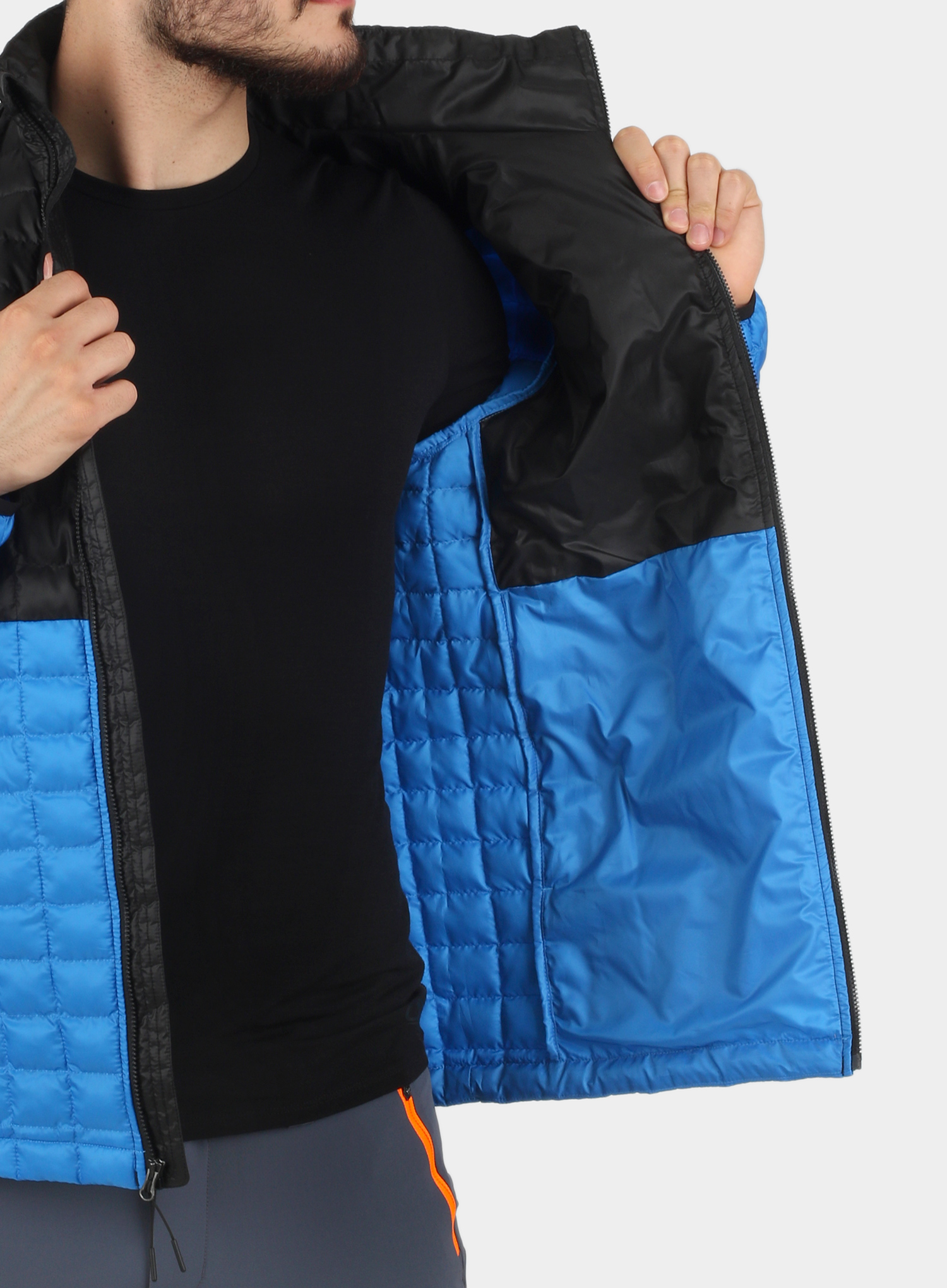 Kurtka The North Face ThermoBall Eco Active Jacket - l.blue/blk - zdjęcie nr. 4