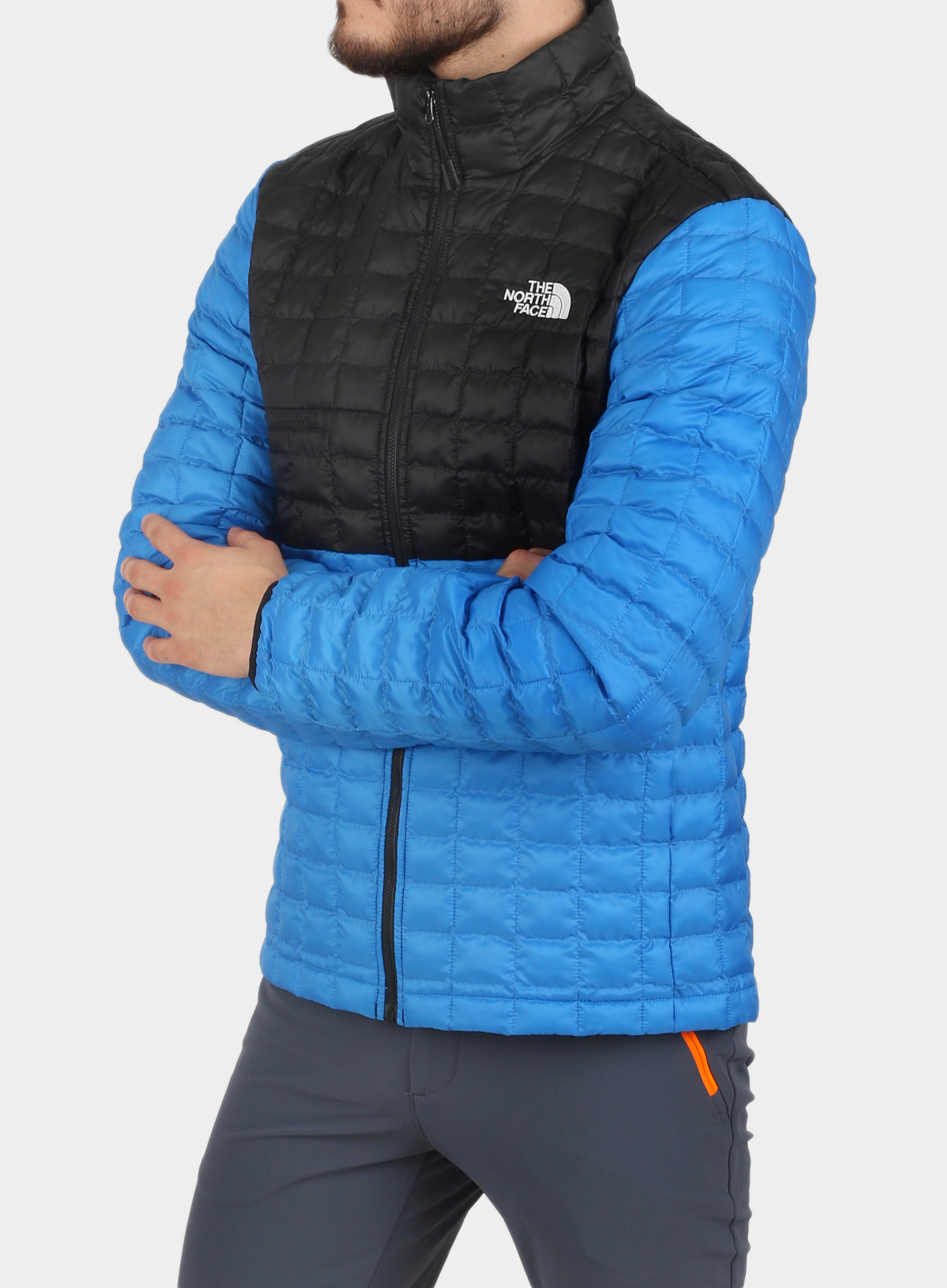Kurtka The North Face ThermoBall Eco Active Jacket - l.blue/blk - zdjęcie nr. 6