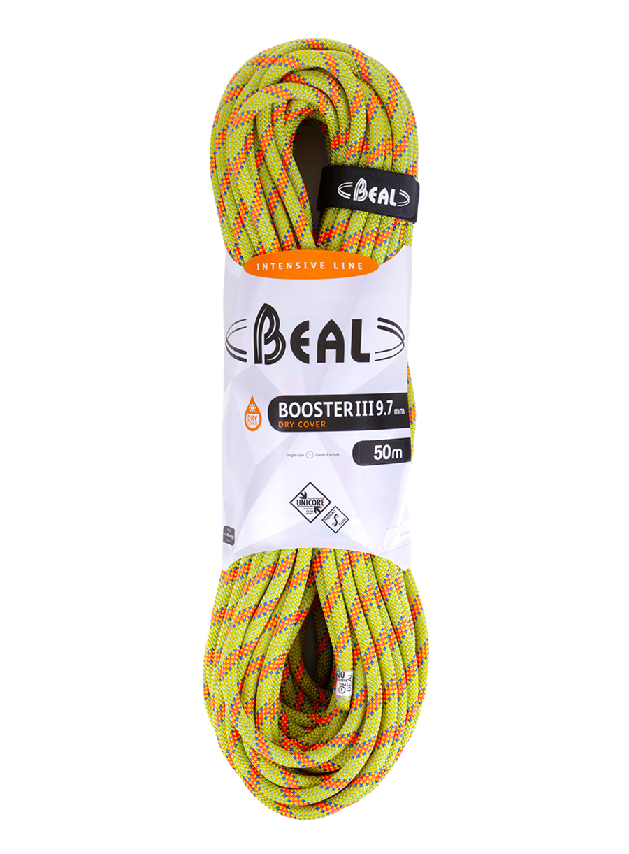 Lina dynamiczna Beal Booster III 9,7 mm 50m Unicore Dry Cover - anis - zdjęcie nr. 1