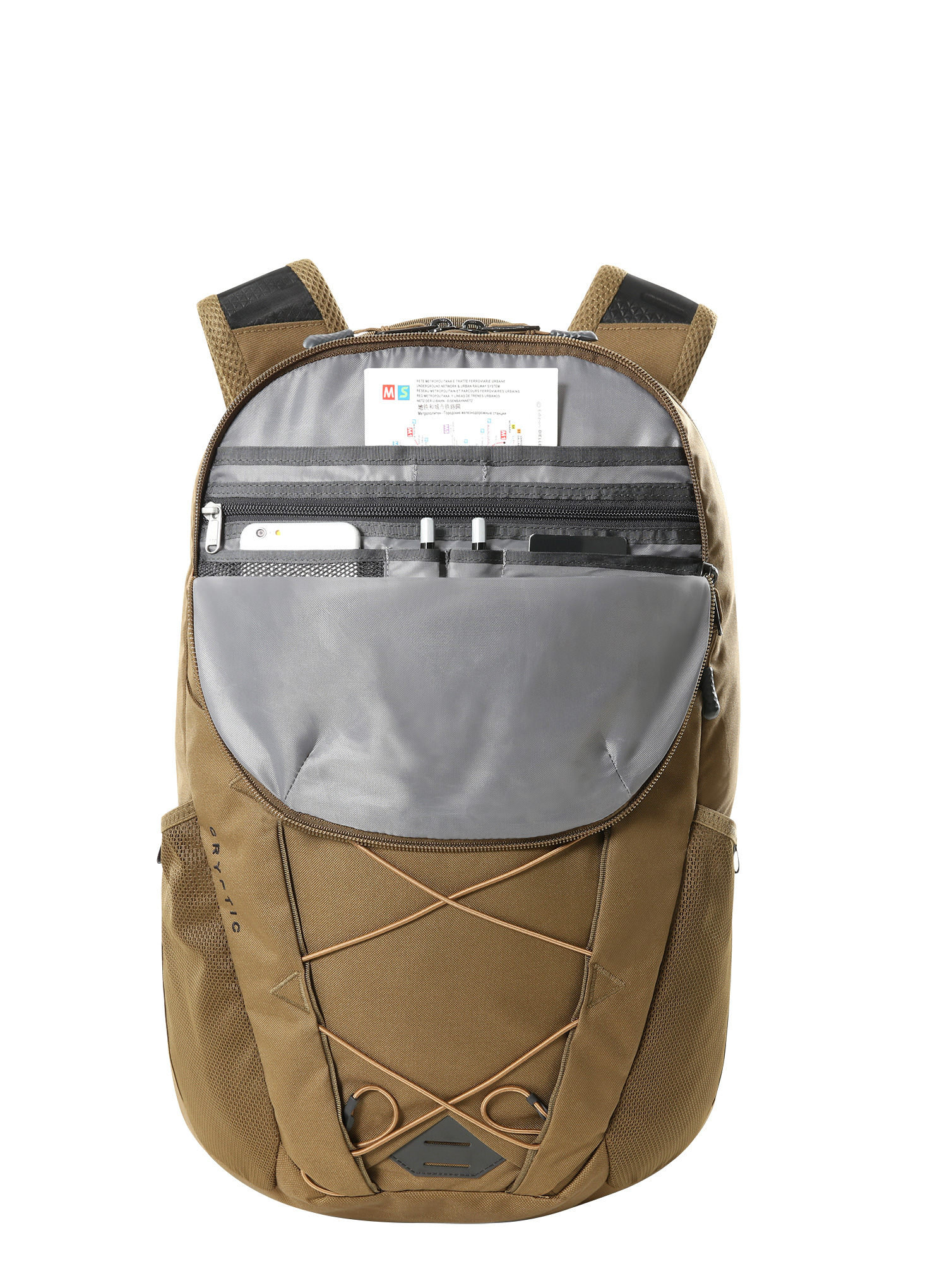 Plecak The North Face Cryptic - military olive/brown - zdjęcie nr. 4