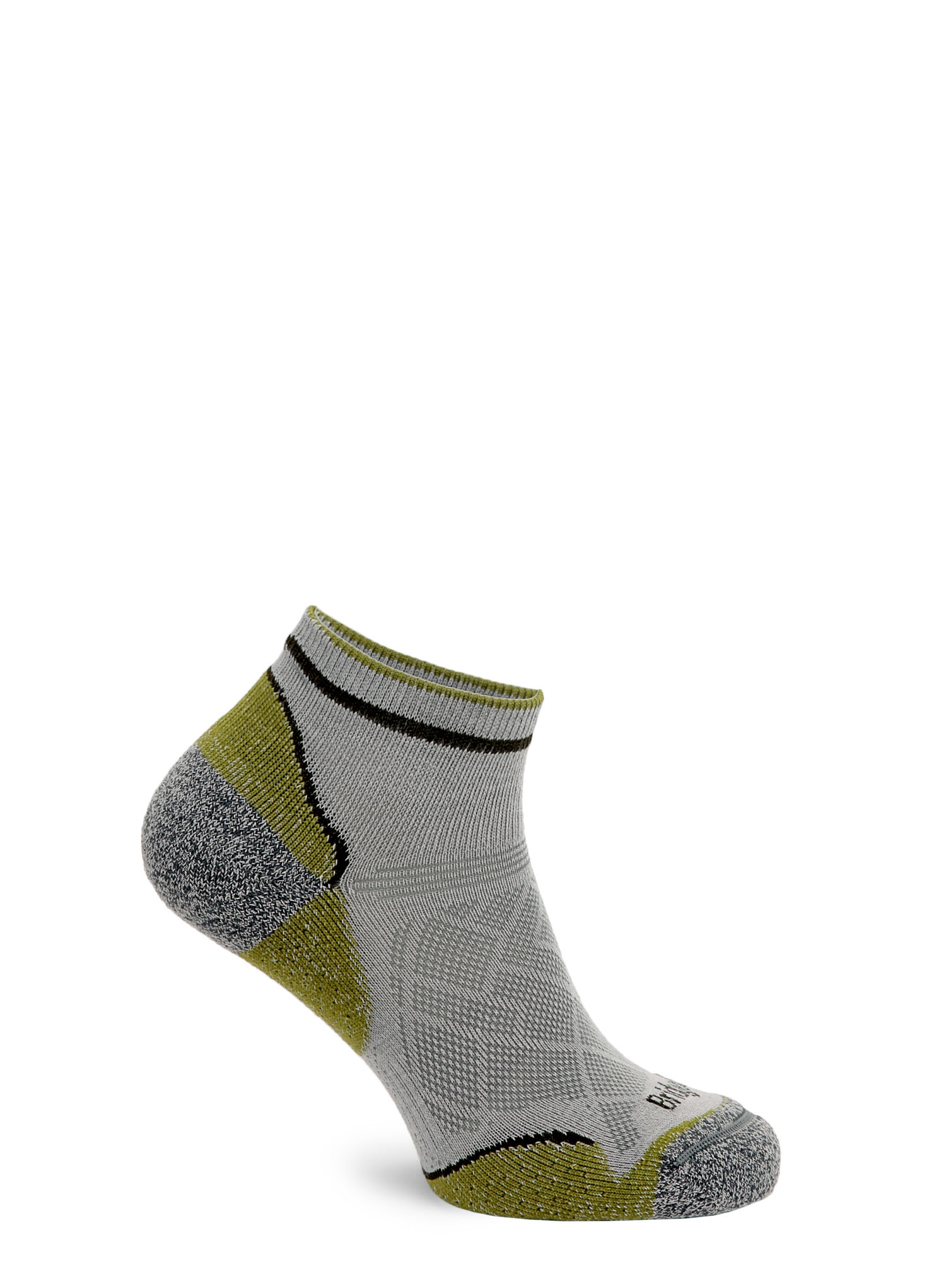 Skarpetki Bridgedale Hike Ultra Lt T2 Coolmax P Low - grey/green - zdjęcie nr. 4