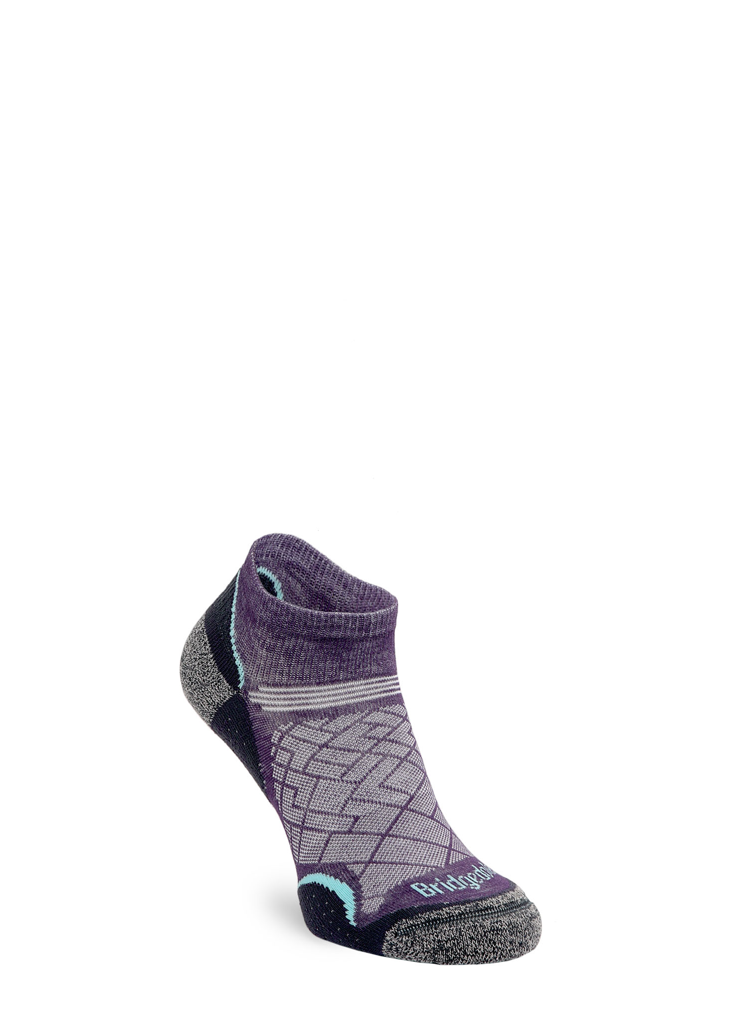 Skarpetki Bridgedale Hike Ultra Lt T2 Coolmax P Low - purple/grey - zdjęcie nr. 1