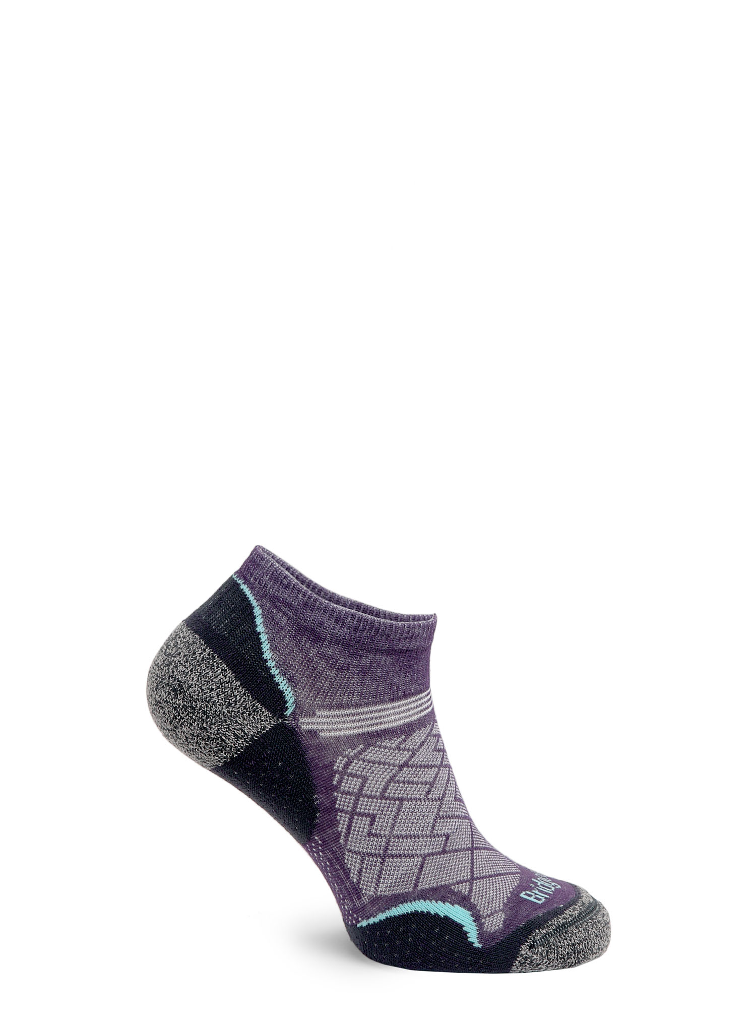 Skarpetki Bridgedale Hike Ultra Lt T2 Coolmax P Low - purple/grey - zdjęcie nr. 4