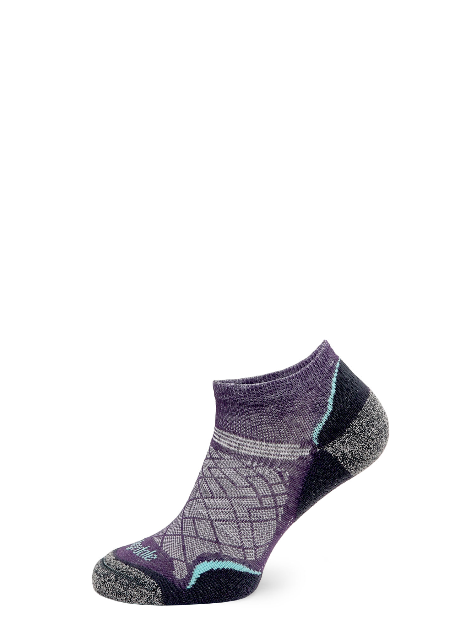 Skarpetki Bridgedale Hike Ultra Lt T2 Coolmax P Low - purple/grey - zdjęcie nr. 5