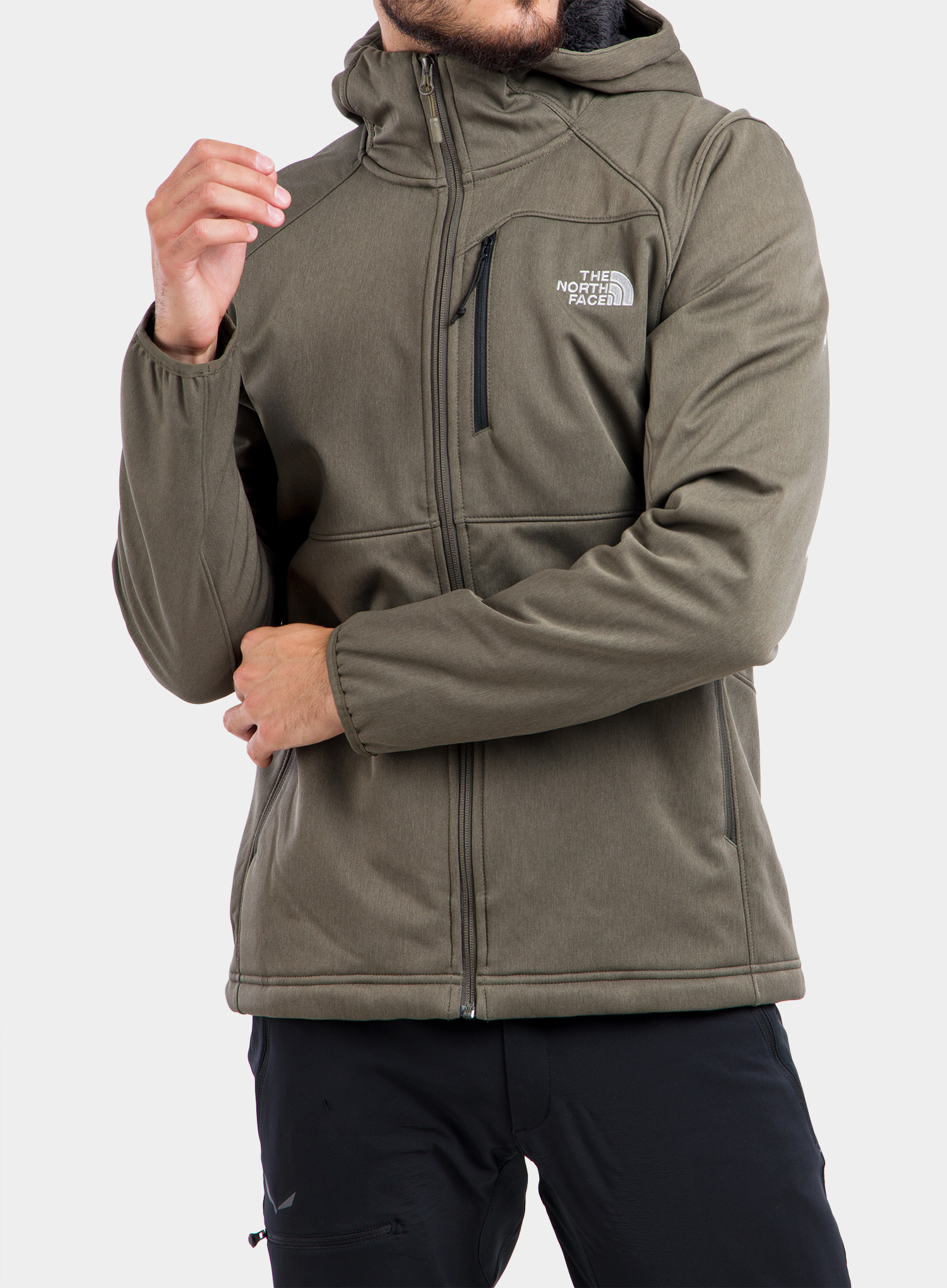 Softshell The North Face Quest Hooded Softshell - new taupe green - zdjęcie nr. 1