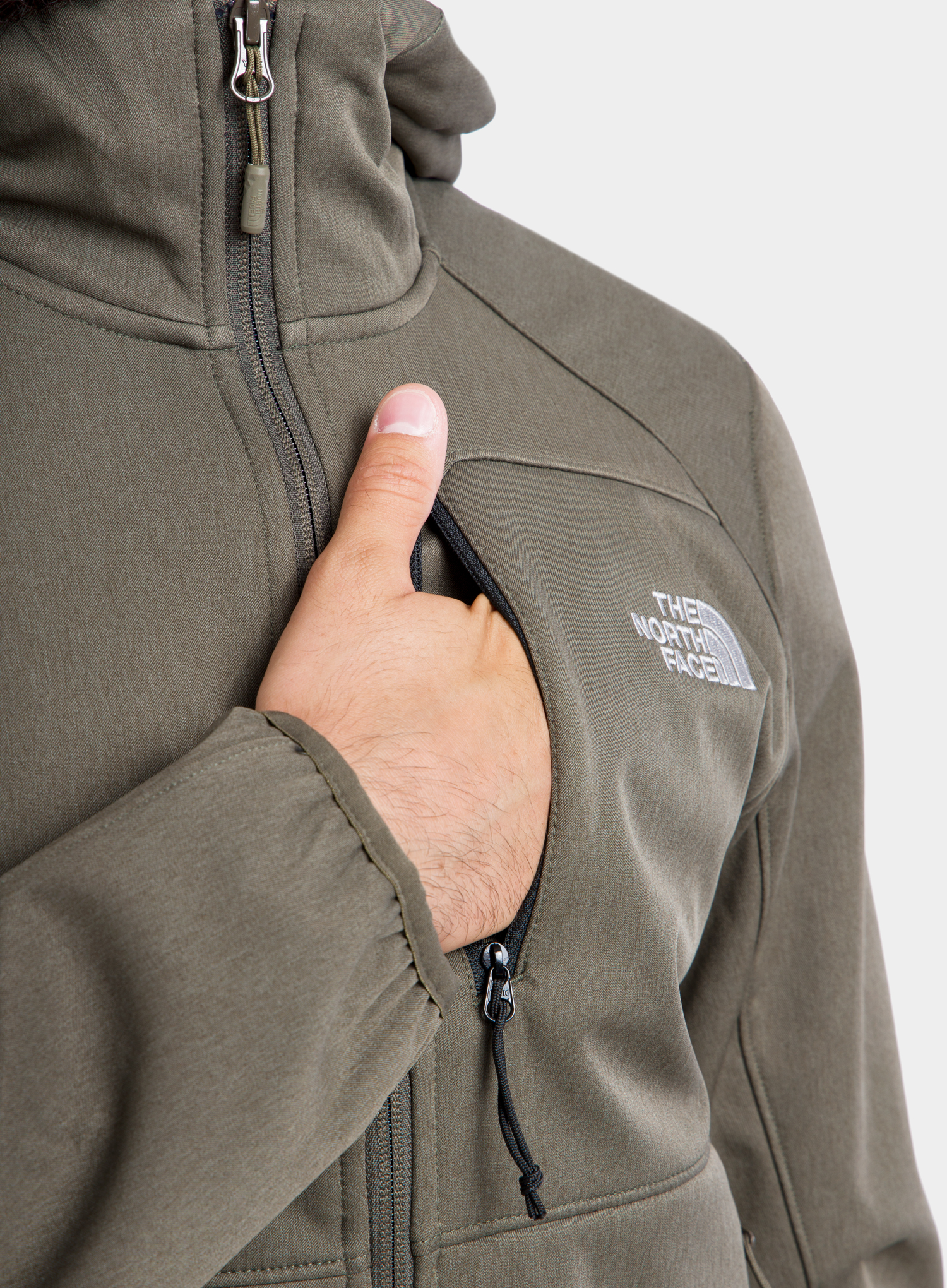 Softshell The North Face Quest Hooded Softshell - new taupe green - zdjęcie nr. 9