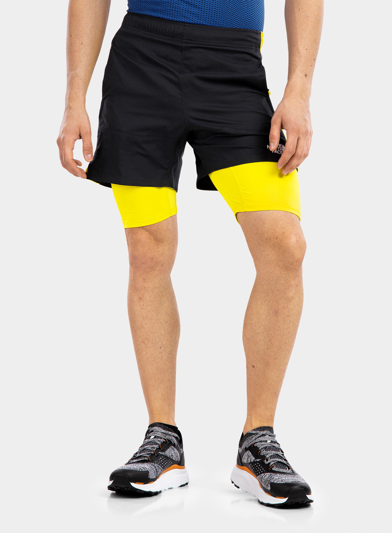 Spodenki The North Face Active Trail Dual Short - grey/sulph - zdjęcie nr. 1