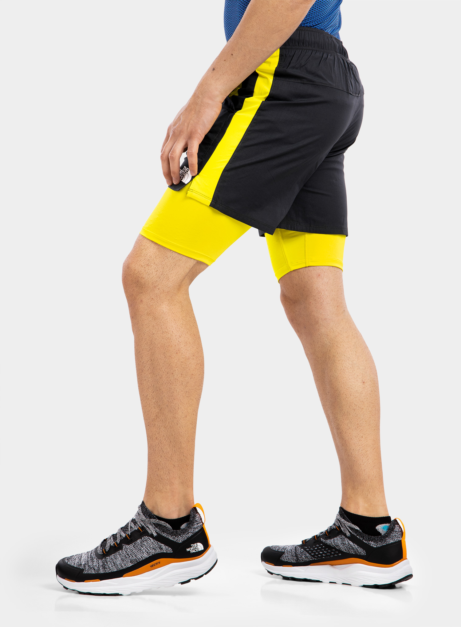 Spodenki The North Face Active Trail Dual Short - grey/sulph - zdjęcie nr. 3
