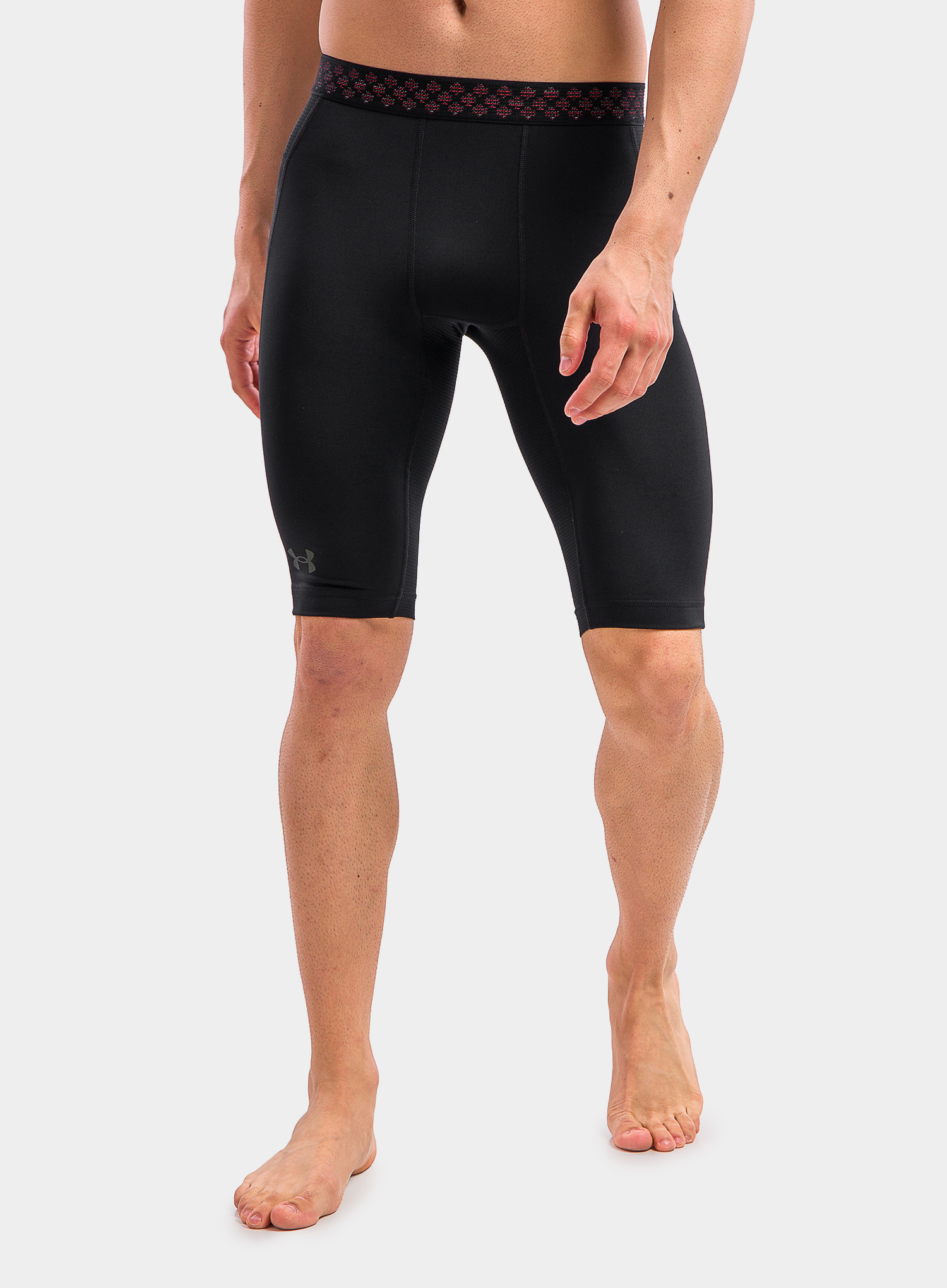 Spodenki Under Armour HG Rush 2.0 Long Shorts - black/black - zdjęcie nr. 1