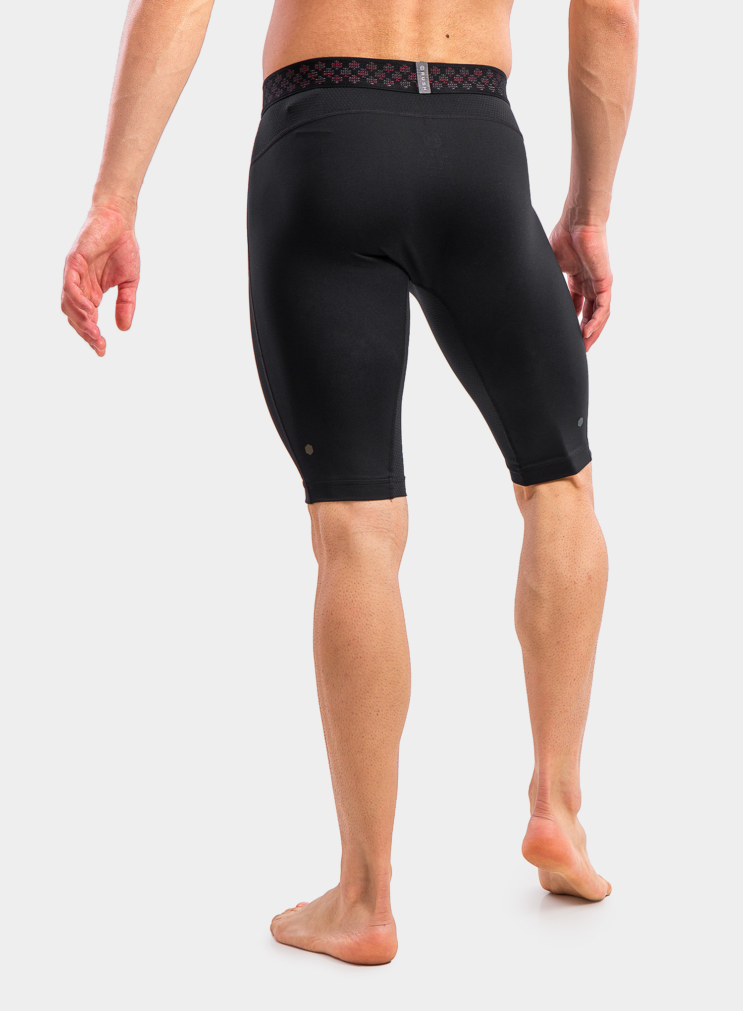 Spodenki Under Armour HG Rush 2.0 Long Shorts - black/black - zdjęcie nr. 2