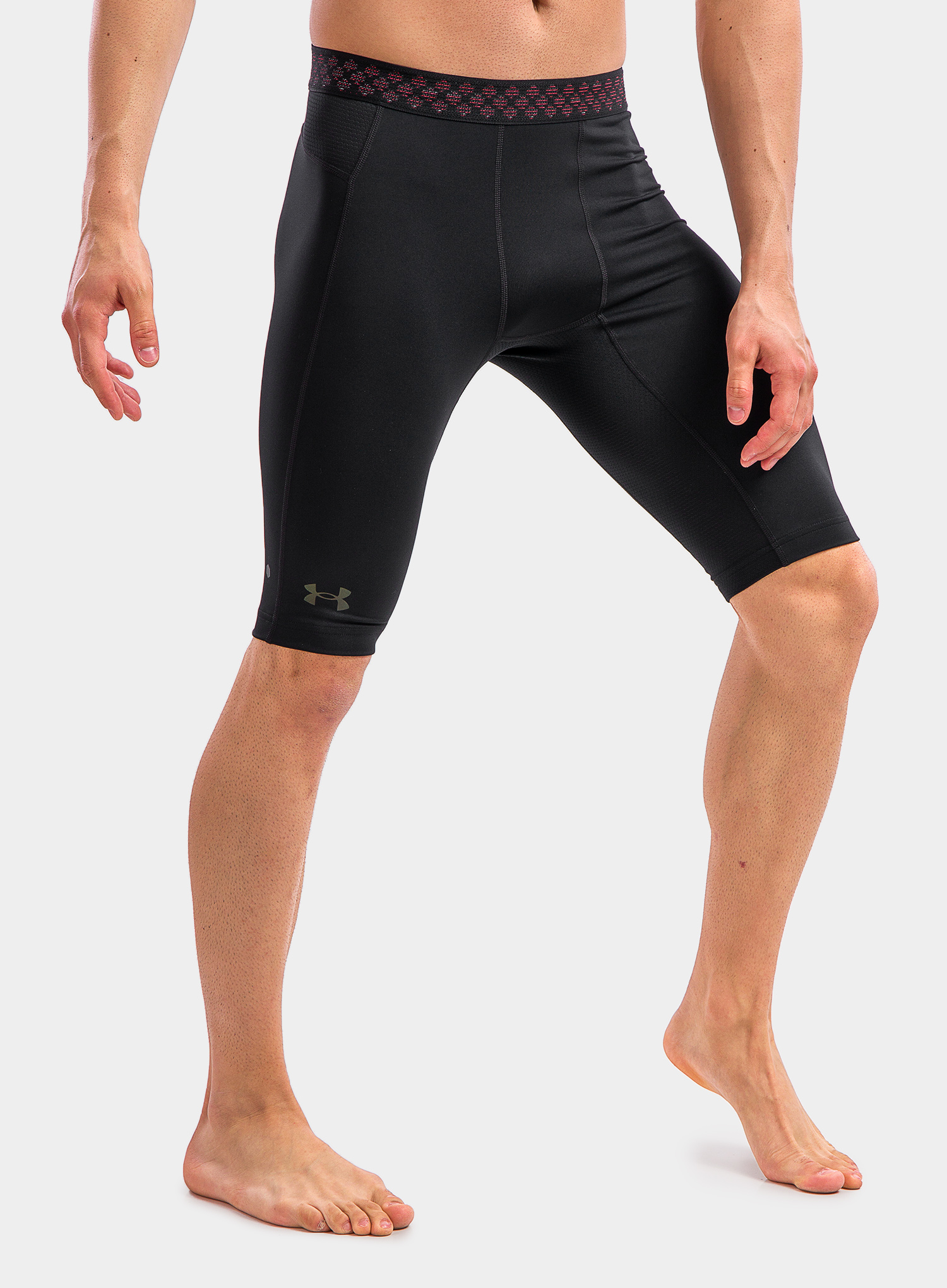 Spodenki Under Armour HG Rush 2.0 Long Shorts - black/black - zdjęcie nr. 3