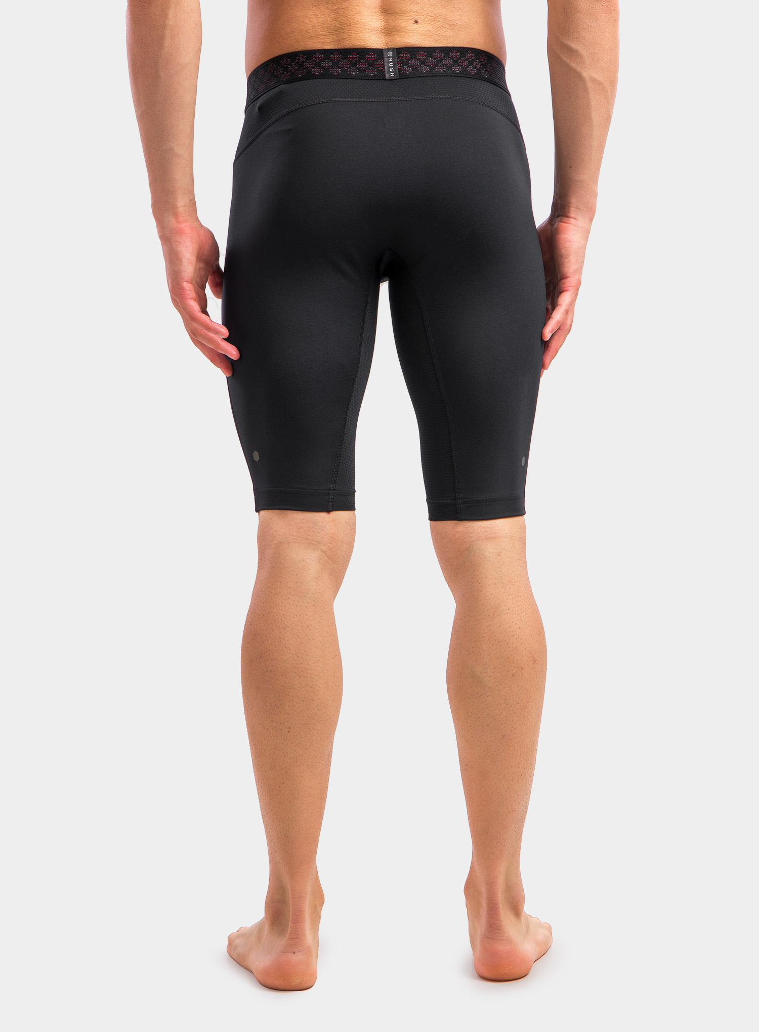 Spodenki Under Armour HG Rush 2.0 Long Shorts - black/black - zdjęcie nr. 5