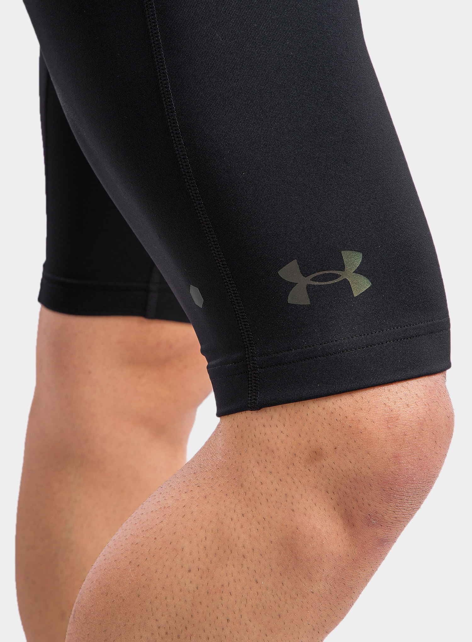 Spodenki Under Armour HG Rush 2.0 Long Shorts - black/black - zdjęcie nr. 6