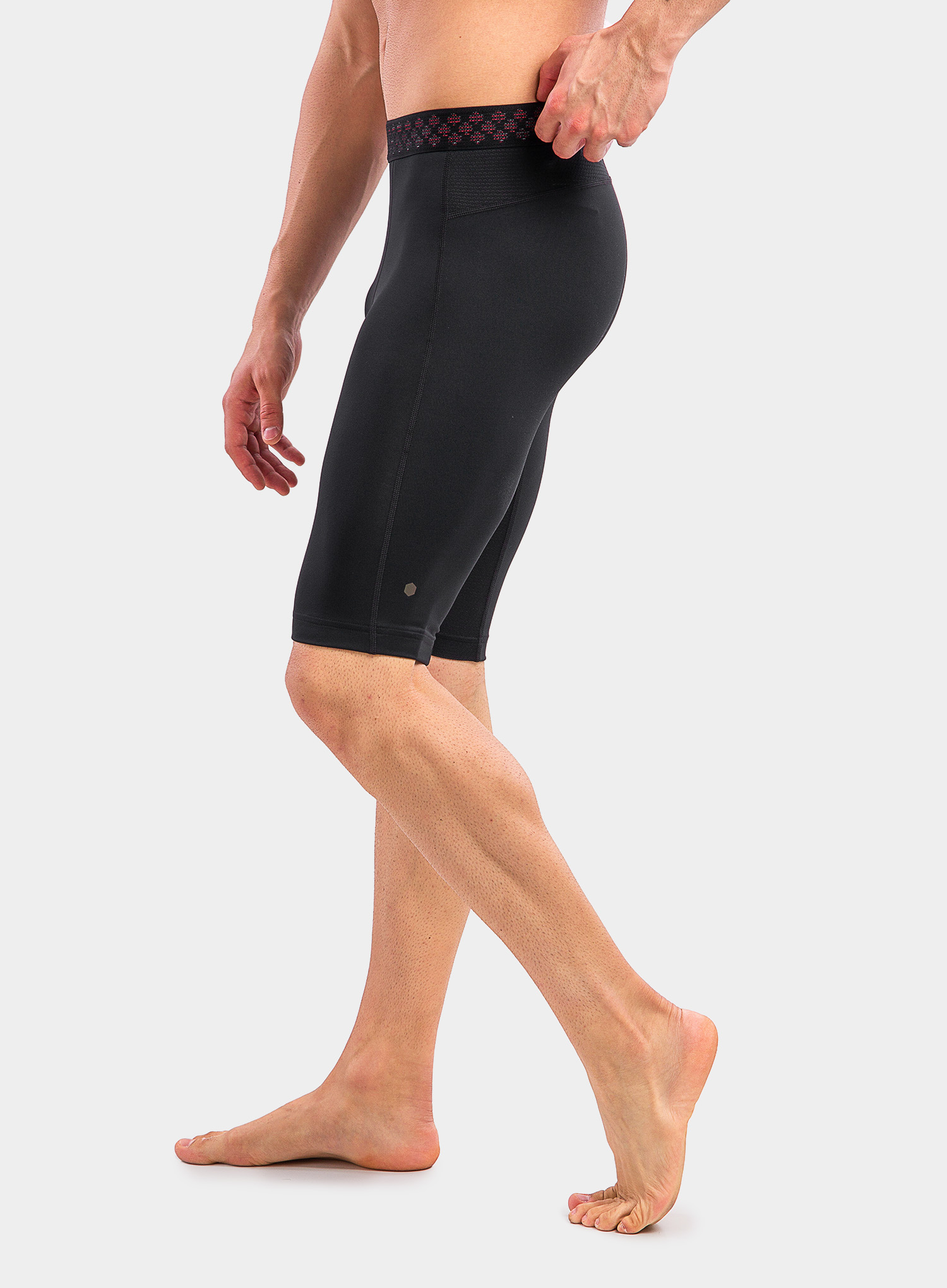 Spodenki Under Armour HG Rush 2.0 Long Shorts - black/black - zdjęcie nr. 8