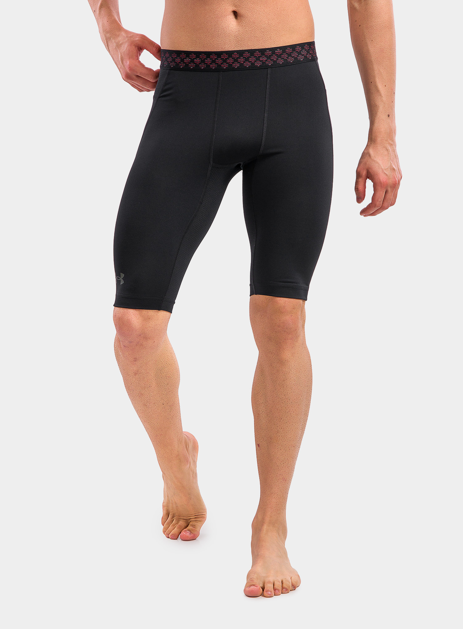Spodenki Under Armour HG Rush 2.0 Long Shorts - black/black - zdjęcie nr. 10