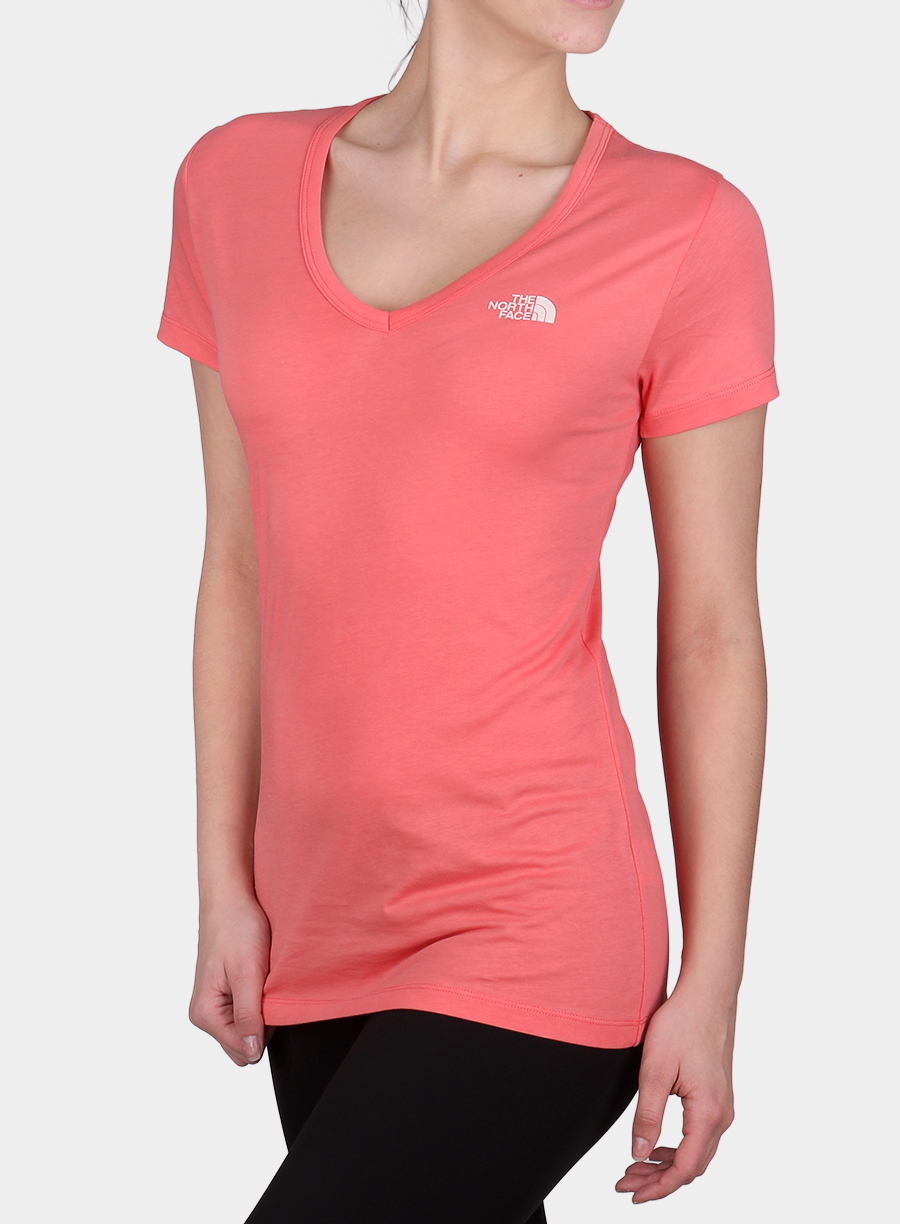 T-shirt The North Face damski Simple Dome Tee S/S - spiced coral - zdjęcie nr. 3