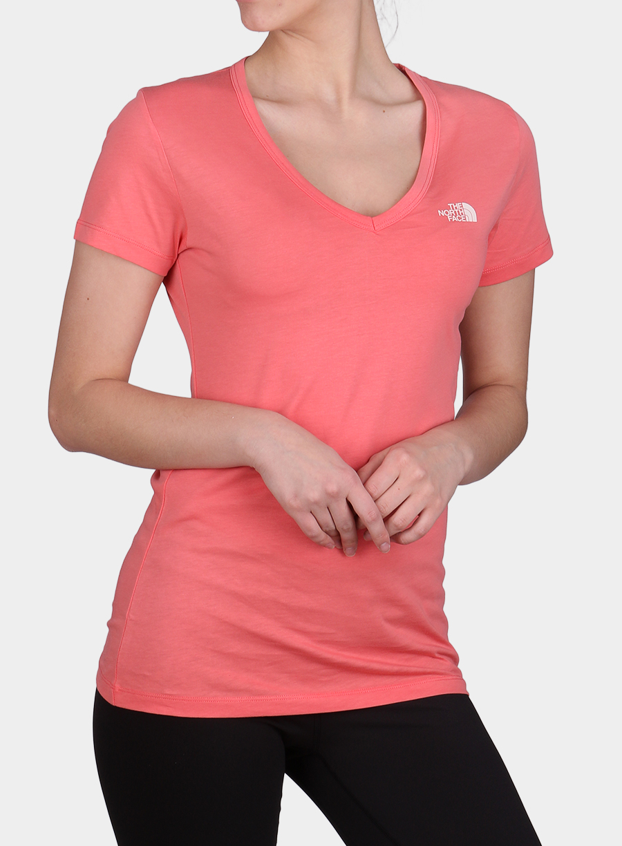 T-shirt The North Face damski Simple Dome Tee S/S - spiced coral - zdjęcie nr. 1