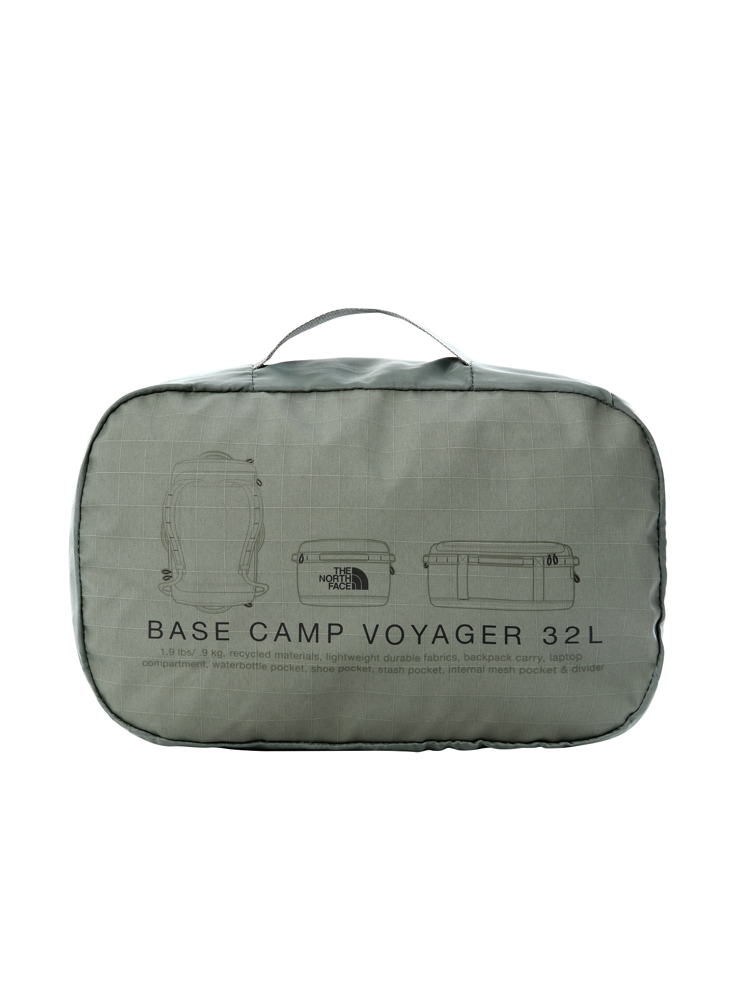 Torba The North Face Base Camp Voyager Duffel 32L - green/blk - zdjęcie nr. 7