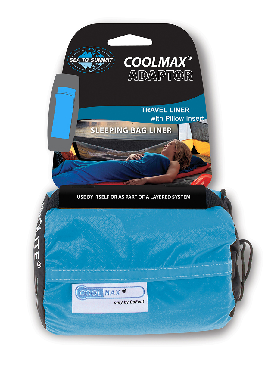 Wkładka do śpiwora Sea To Summit Coolmax Adaptor Travel Liner - blue - zdjęcie nr. 2
