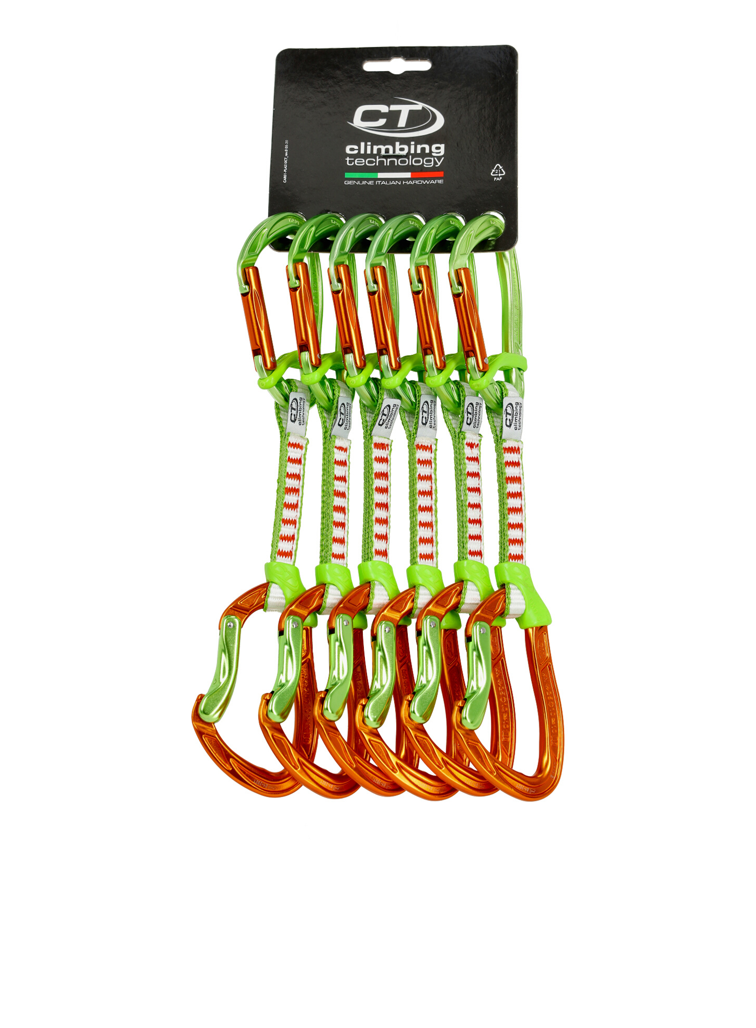Zestaw Climbing Technology Nimble Fixbar Set DY 12cm x6 - orange/green - zdjęcie nr. 1